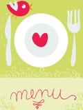 Bird restaurant menu Stock Photography