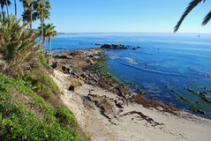 Bird Rock At Low Tide Off Heisler Park. Laguna Beach, California. Royalty Free Stock Photography