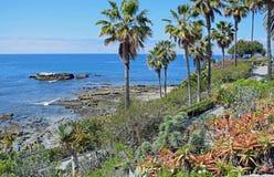 Bird Rock below Heisler Park in Laguna Beach, California. Royalty Free Stock Image