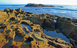 Bird Rock off Heisler Park. Laguna Beach, California Stock Images