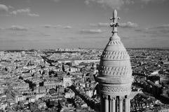 Bird's-eye взгляд города Париж Стоковая Фотография RF