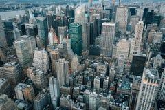 A bird`s eye aerial cityscape view of Midtown Manhattan, New York City stock photos