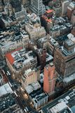 A bird`s eye aerial cityscape view of Midtown Manhattan, New York City stock photography