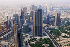 Bird's-eye Dubai-Ansicht Lizenzfreie Stockfotografie