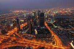 Bird's-eye Dubai view Stock Image