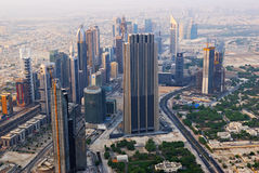 Bird's-eye Dubai view Royalty Free Stock Photography