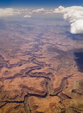Bird's Eye Image of Grand Canyon. Royalty Free Stock Photo