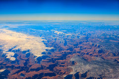 Bird's Eye Image of Grand Canyon. Royalty Free Stock Photo