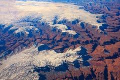 Bird's Eye Image of Grand Canyon. Royalty Free Stock Photos