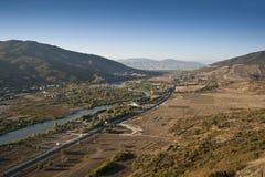 Bird's eye panorama of a Caucasus Royalty Free Stock Photos