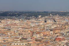 A bird's eye Rome. The red roofs in Rome Royalty Free Stock Photography