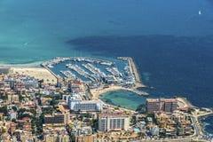 Bird's-eye sikt på ön Mallorca Royaltyfria Foton