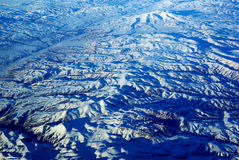Bird's Eye the Snow Mountains Royalty Free Stock Photos
