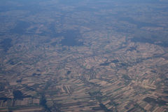 Bird's-eye view. Aerial view of the paddle crops royalty free stock images