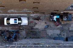 Bird's eye view of alleyway Stock Photos
