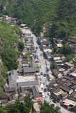 Bird's eye view of the ancient village Stock Photos