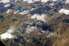 Bird´s eye view of the Andes Stock Images