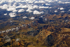 Bird´s eye view of the Andes Royalty Free Stock Photo