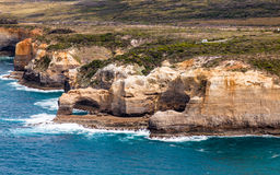 Bird's eye view of The Arch in Port Campbell National Park royalty free stock images