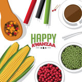 Bird's eye view background of holiday Kwanzaa Stock Image