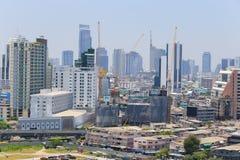 Bird's eye view of Bangkok Royalty Free Stock Images