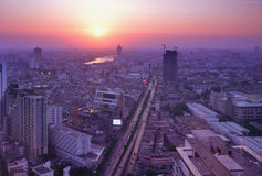 Bird's eye view of Bangkok Royalty Free Stock Photo