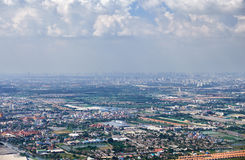 Bird's-eye view on Bangkok vicinity Royalty Free Stock Images