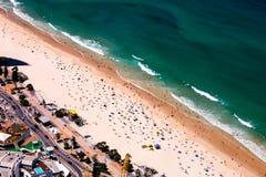 Bird's Eye View of Beach During Summer stock photos