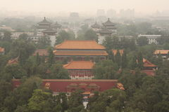 Bird's eye view of Beijing Royalty Free Stock Photography