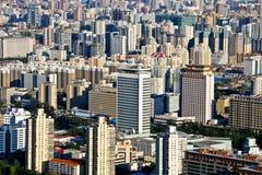 Bird's eye view of beijing  Stock Images