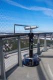 Bird's eye view. Binoculars for a beautiful view Royalty Free Stock Photo