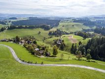 Bird& x27;s-eye view of the Burgdorf. The bird& x27;s-eye view of the Burgdorf in Switzerland Stock Photography