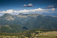 Bird's-eye view in the Carpathian mountains Royalty Free Stock Photography