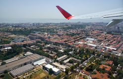 The bird's eye view of the central Lisbon. Portugal royalty free stock photos