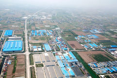Bird's eye view of China Plain Zone Stock Photo