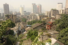Bird's eye view of Chongqing, China Royalty Free Stock Photography