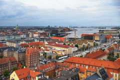 The bird's eye view from the Church of Our Saviour on Copenhagen Royalty Free Stock Photo