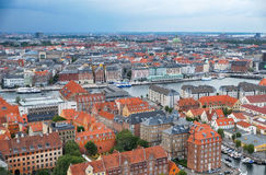 The bird's eye view from the Church of Our Saviour on Copenhagen Royalty Free Stock Images