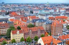 The bird's eye view from the Church of Our Saviour on Copenhagen Stock Photos