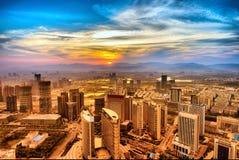 Bird's eye view of the city Stock Photos