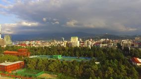 The bird`s eye view of the city. Batumi, Georgia stock video footage