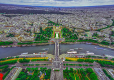 Bird's eye view of the city of Paris ,France Royalty Free Stock Image