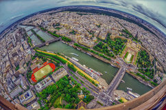Bird's eye view of the city of Paris ,France Royalty Free Stock Photography