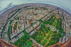 Bird's eye view of the city of Paris ,France Stock Photos