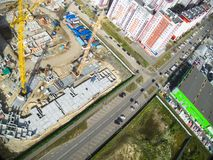 Bird's eye view on construction site Stock Images