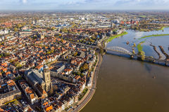 Bird's eye view of Deventer Stock Images