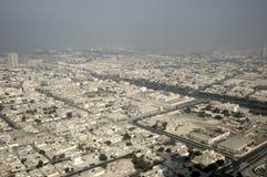 Bird's-eye view on Dubai. Bird's-eye view on typical district. Dubai, United Arabic Emirates Royalty Free Stock Images