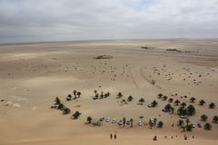 Bird's eye-view from dune-top Royalty Free Stock Photo