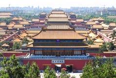 Bird's-eye view of forbidden city Stock Photos