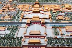 Bird's-eye view of forbidden city royalty free stock image